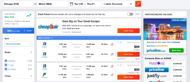 How to fly from Chicago to Miami for Cheap