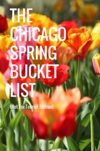 Chicago Spring Bucket List Checklist